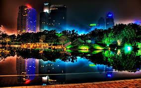 neon tree building