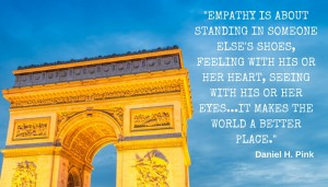 Empathy is about standing in someone else's shoes, feeling with his or her heart, seeing with his or her eyes. Not only is empathy hard to outsource and automate, but it makes the world a better place.